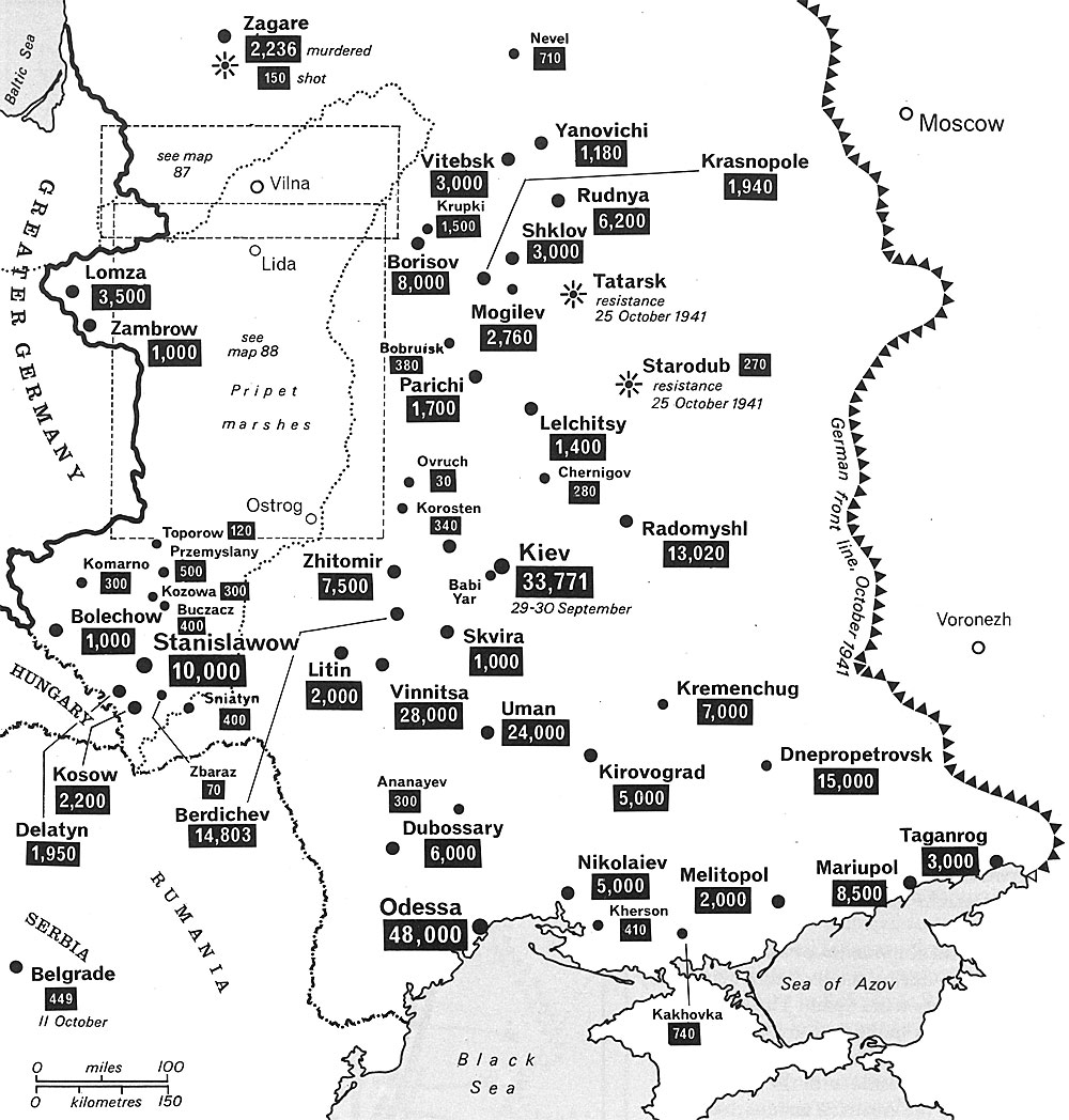 Holocaust in Contemporary Maps