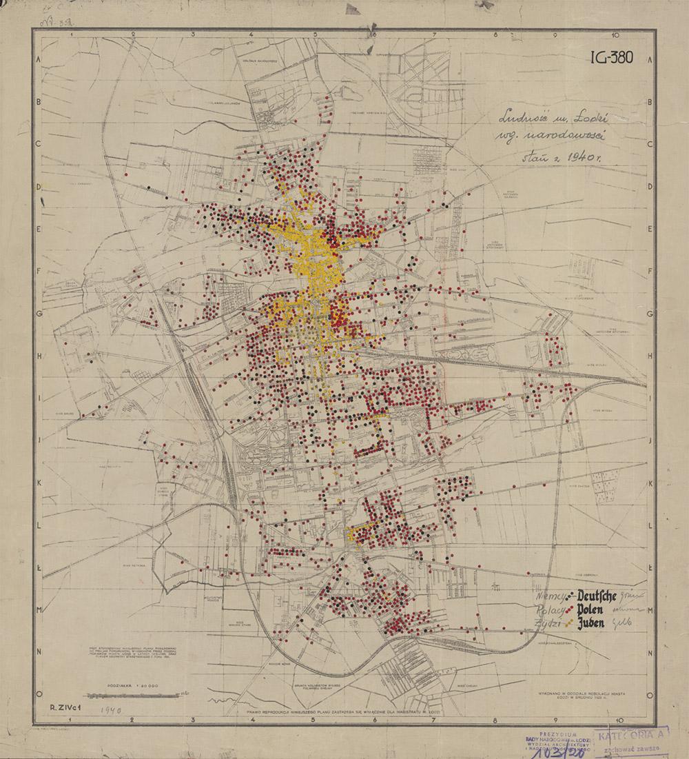 Lebensraum Und Getto Karten Der Warthegau Pläne Von Litzmannstadt
