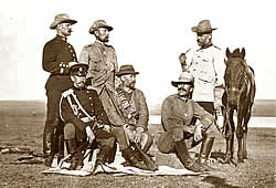 Thomson as a military observer in South Africa (3rd from left)