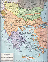 Map of the Balkans. (Source: Beekman & Schuiling, School Atlas of the Whole World, ± 1900)