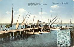 Steiger van de douane van Durrës