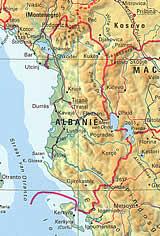 Fragment van de Zuid-Oost Europakaart (Bosatlas 2001)