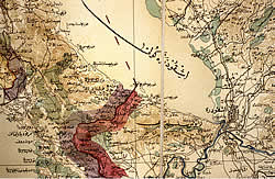 Fragment of an Ottoman army map, Shkodër and environs, ±1900)