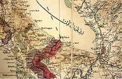 Pjesë të një harte ushtarake osmane, Shkodra dhe rrethinat, ±1900