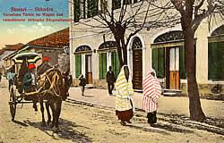 Veiled muslim women of Shkodër
