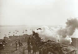 Artillery in action