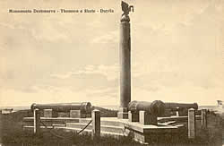 Thomson monument in Durrës in 1923
