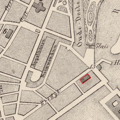 Kuijper, J., Provincie Noord-Holland, Gemeente Hoorn (uitsnede), Leeuwarden 1869
