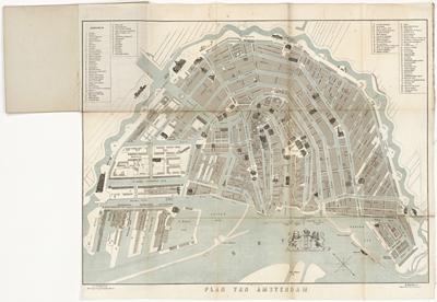 Sybrandi, J.D. & H. Parson, Nieuw Plan der Stad Amsterdam, Amsterdam z.j. (±1860)