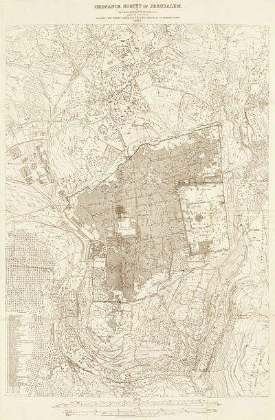 Ordnance Survey (ed.), Ordnance Survey of Jerusalem by Captain Charles Wilson & Colonel Sir Henry James, z.p. z.j. (Southampton 1866)