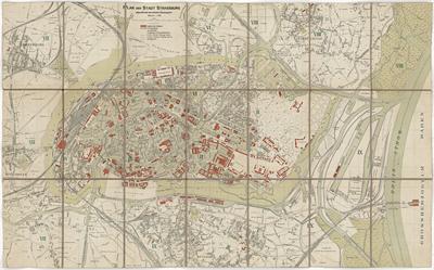 Plan der Stadt Strassburg aufgestellt nach dem amtlichem Bebauungsplan, z.p. z.j. (Strassburg ± 1905)
