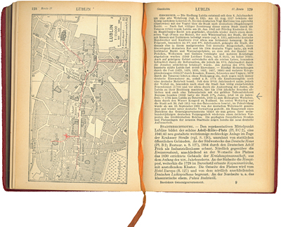 Map of Lublin, from: K. Baedeker, Das Generalgouvernement, Leipzig 1943